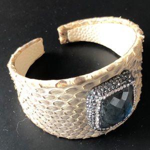 Jewelry - Laborite and Snake Skin Cuff